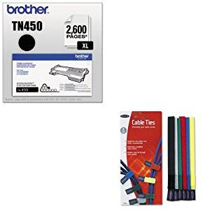 KITBLKF8B024BRTTN450 - Value Kit - Belkin Multicolored Cable Ties (BLKF8B024) and Brother TN450 TN-450 High-Yield Toner (BRTTN450)