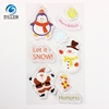Cheap Christmas Claus Snowman Penguin Pet Printing Gel Car Window Sticker