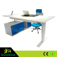 Computer desks, automatic lifting metal legs, electric and manual height adjustable table