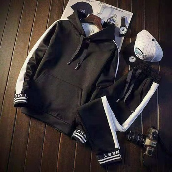 Winter wear men's 100% cotton designer tracksuits for men sport wears