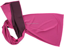 wholesale 100% polyester fabric knitted pink quick dry towel