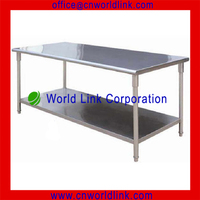 2 Layers Stainless Steel Kitchen Corner Tables