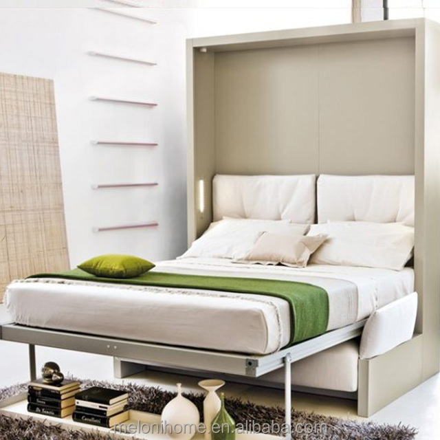 Easy Assembling Pull Out Wall Bed with Shelf ,Murphy Transformer Sofa Bed