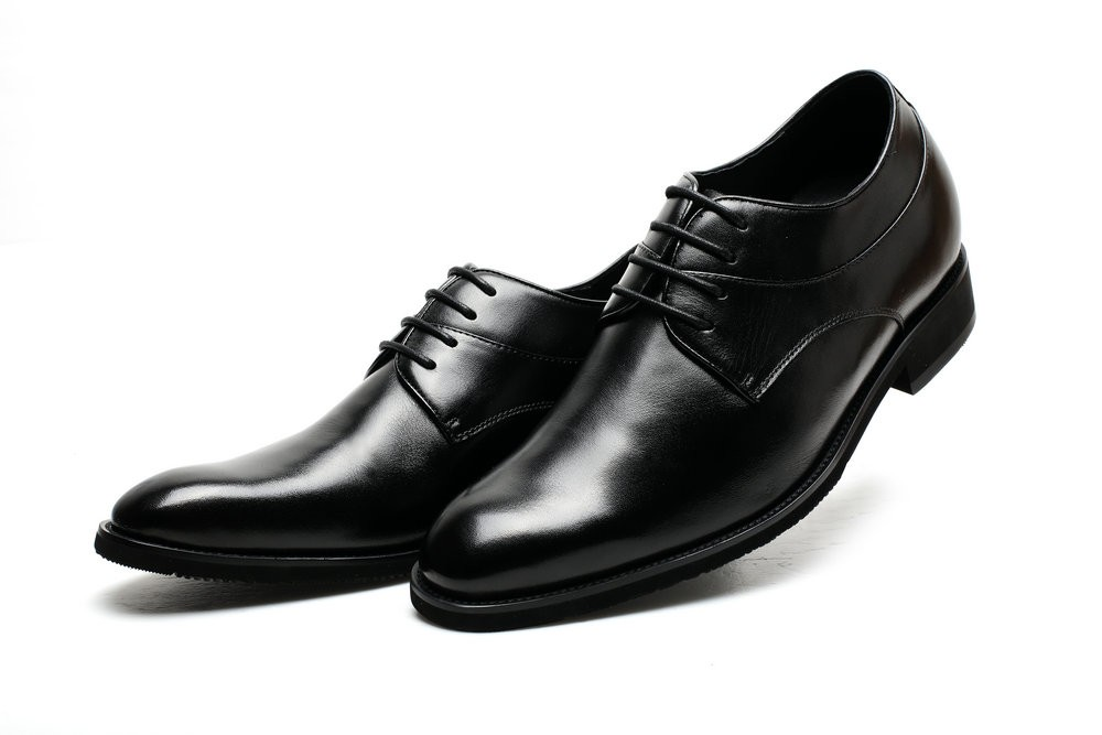 Leather Guys Shoes Height Increasing Oxfords Genuine Black Up for CF Lace Cw5xv6