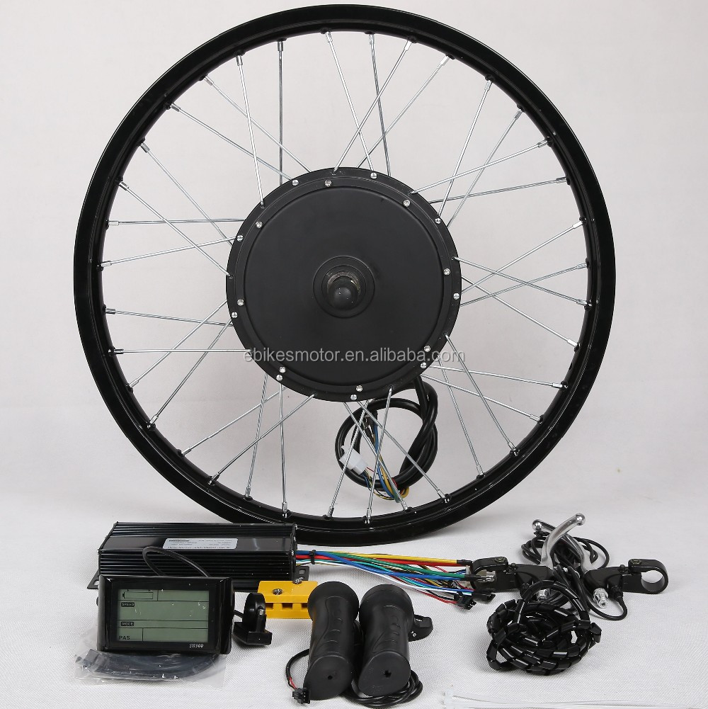 High speed !electric bicycle front / rear wheel 48v 1500w brushless hub motor ebike conversion kit