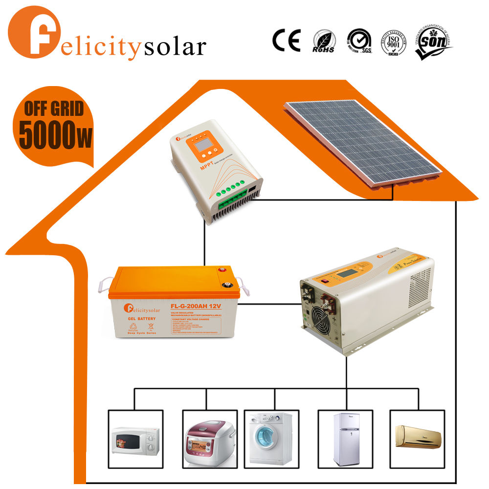 Best price household 5 kw solar power system with high efficient