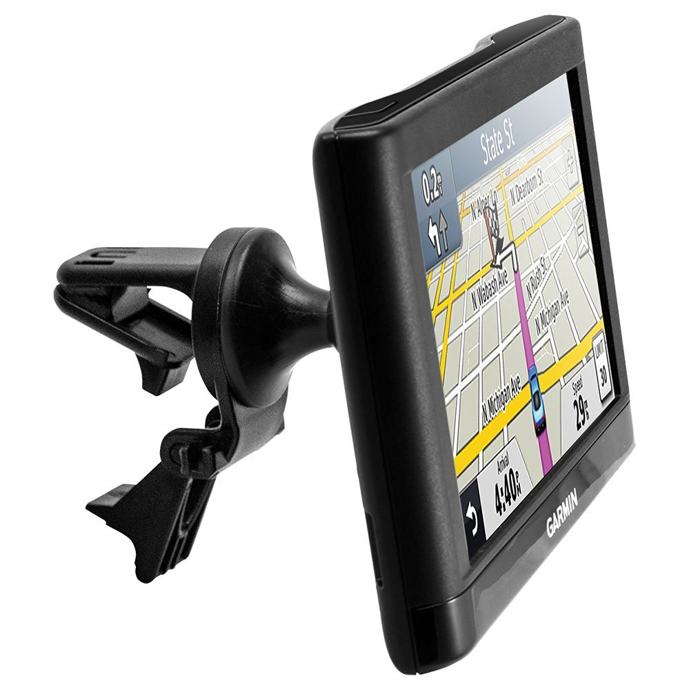 i.Trek GPS air vent mount with metal spring clips compatible with Garmin Nuvi GPS