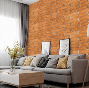 88c8579fea6ca Respetuoso del medio ambiente PVC auto Adhesivo de pared de ladrillo papel  pintado de papel