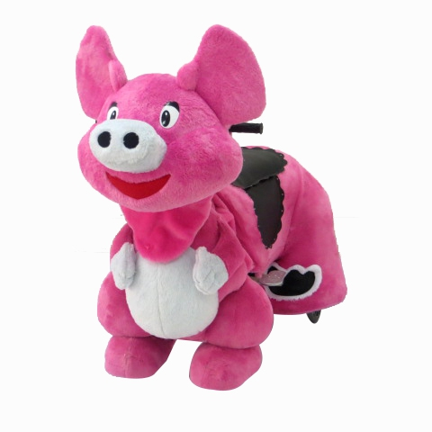 HI battery operated ride on horse for Kids Plush Animal pig Ride On Toy