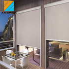 Aluminum wide blade sun shading zip track screen for buildings