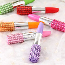 Promotional funny Lipstick Shaped Ballpoint Pen for women
