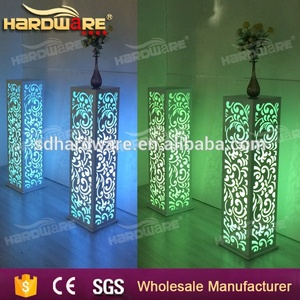 LED Glowing Cocktail Table for Bar Hotel Party Wedding , Decoration LED Pillar