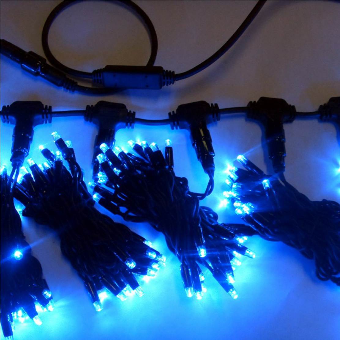 Project curtain lights OEM customize waterproof outdoor IP67 rubber cable led party string curtain lights