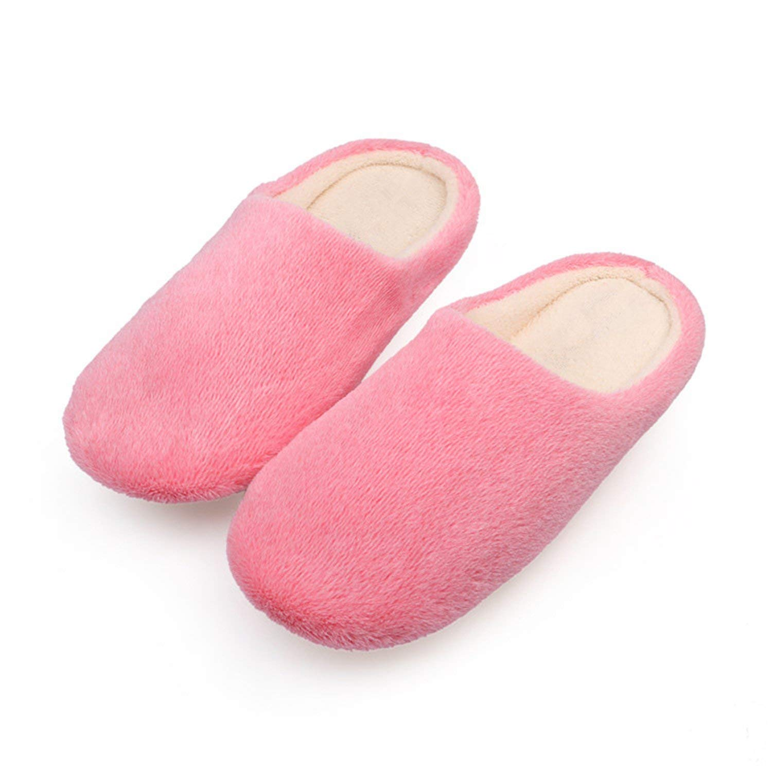 Jwhui Soft Plush Cotton Cute Slippers Shoes Non-Slip Floor Indoor House Home Furry Slippers Women Shoes for Bedroom