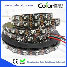Dream Color 300LEDs 5m WS2812B Black 5050 Chips Black FPCB 30/60/72/144 LEDs WS2811 Flexible LED Strip