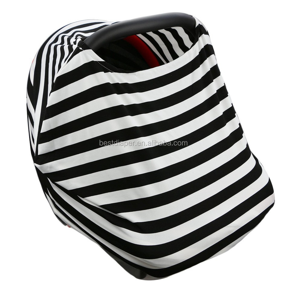 HF009 cotton fabric print baby car seat canopy baby nursing cover scarf baby breast-feeding cover