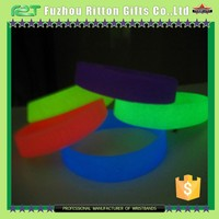 Glow in the dark rubber wristbands for events