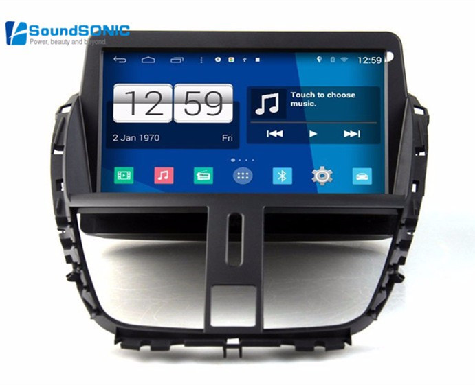 for peugeot 207 dvd gps navigation autoradio android 4 4 4 for peugeot 207 cc sw car radio. Black Bedroom Furniture Sets. Home Design Ideas