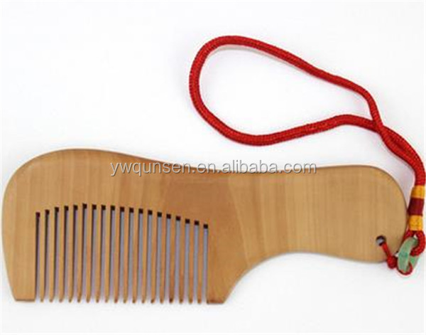 Best selling small pocket wooden hair comb for hair highlight фото