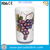 Beautiful Grape Printed Beer Can Shape Wine Ceramic Cooler