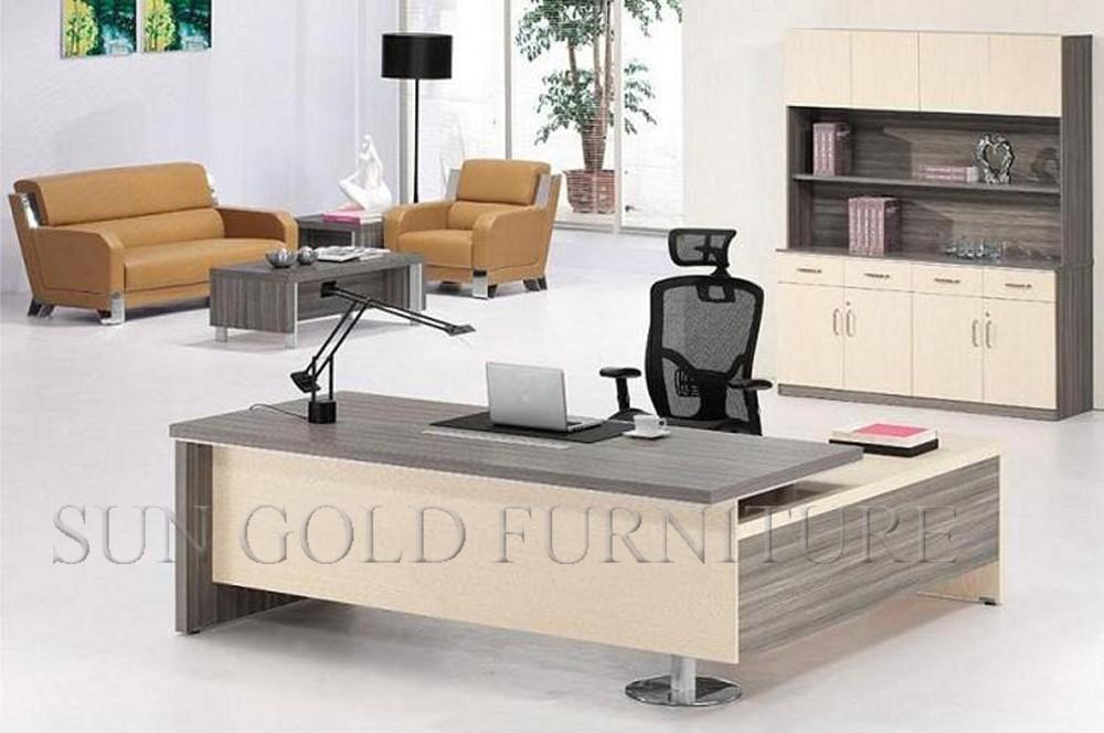 Barato pero con clase melamina mobiliario de oficina escritorio ...