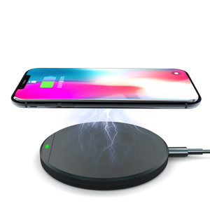 Private model custom logo mobile phone fast qi wireless desktop charger