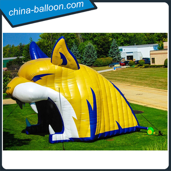 3d Design Inflatable Outdoor Tunnels/ Tiger Shape Arch For Sports ...