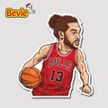 Bevle 9353 NBA Bastetball Super Star Joakim Noah Waterproof Stickers Laptop Luggage Fridge Car Graffiti Cartoon