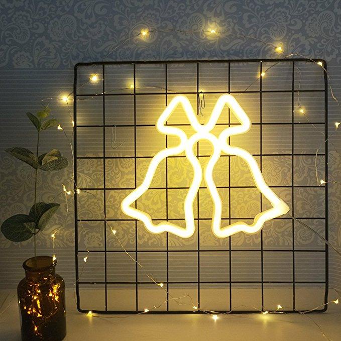 Ropio jingle bells christmas decoration led neon light