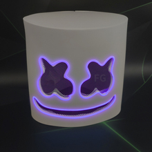 Halloween DJ Marshmello <span class=keywords><strong>Cosplay</strong></span> EL <span class=keywords><strong>Masker</strong></span> paars roze hoge helderheid party el draad <span class=keywords><strong>masker</strong></span>