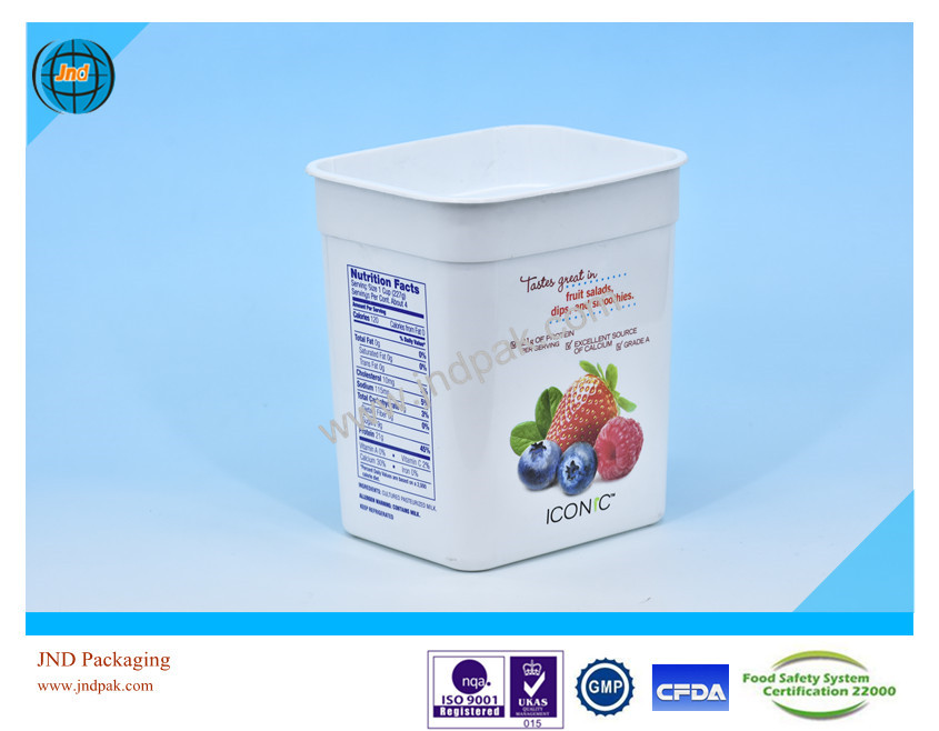 OEM pp plastic yogurt packaging cups with FSSC 22000 certificate