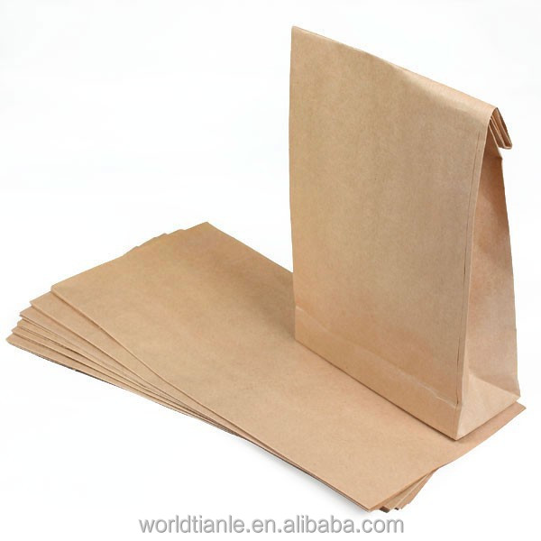 Brown Craft Paper Bag For Deli Packaging With High Quality Product On Alibaba