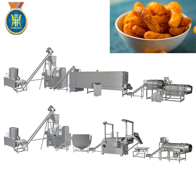 corn twist curl food making machinery crispy corn chips production extruder