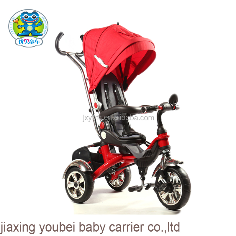 Aluminum alloy frame baby carrier tricycle car for kids