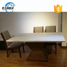 nuevos productos hermosa mesa de mrmol con base de madera de nogal