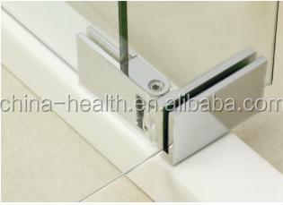 reinforce accordion door glass shower frameless swing door expandable shower door