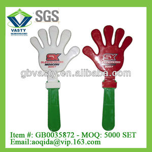 big size hand clapper plastic hand clap toy