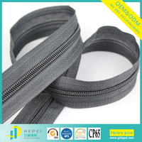 Recycle durable jacket sweatshirt long chain coil nylon zipper in roll factory