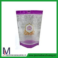 plastic bag manufacturer/zip lock stand up food pouches for almond candy
