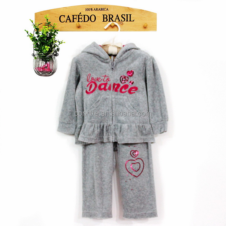 Autumn And Winter Girls Clothing Set Cotton Baby Clothes Wholesale 2pcs Children Clothing