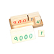 educational toys children toys Montessori 1-9000 digital numbers card