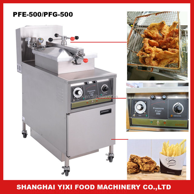 10 years factory supplier in Shanghai, China/High efficient and easy cleaning features/gas pressure chicken fryer