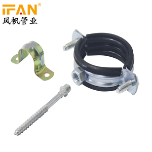 Wholesale Cheap Cast Iron Pipe Clamp Hangers Rubber Lined Clamp Clips for  HDPE PPR PVC Pipe