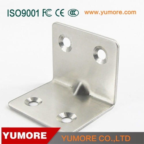 201 Stainless steel furniture cabinet right angle mirror brackets