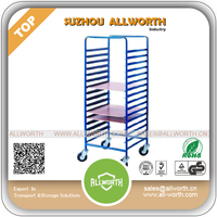Wire Industrial Logistic Cart with Wooden Board