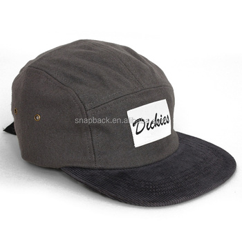 Guangzhou Cap Supplier Design Your Own Suede strapback 5 panel Hat with  Cordery Label Logo Corduroy 2b55f6fd11b9