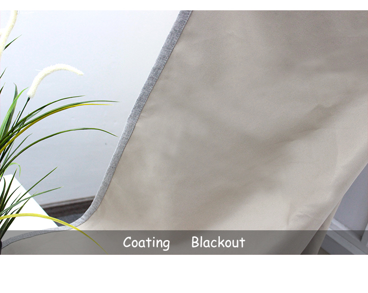 Heat Blocking Thermal Insulated Blue Color Coating Blackout Curtains Drapes for Windows