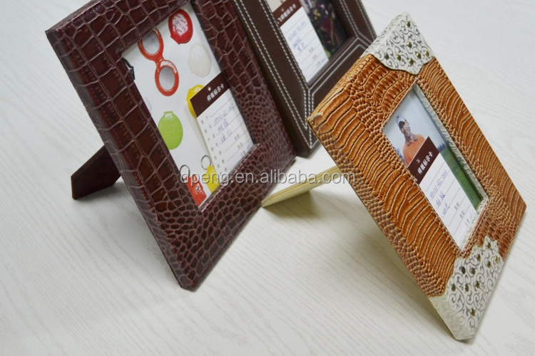 Home Decoration Lawrence Frames Red Leather 5 by 7 Picture Frame