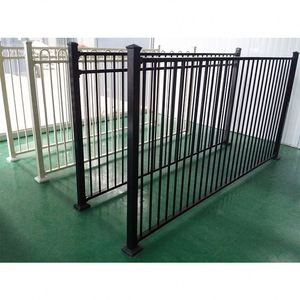 Hot sale galvanized powder coated black swimming pool safety fence