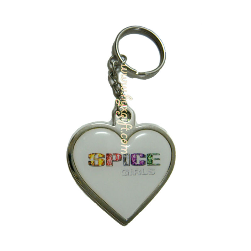 Customized Lovely Heart Shaped Multifunctional Handmade Good Qualtiy Factory Keychain Keyring With Epoxy Logo